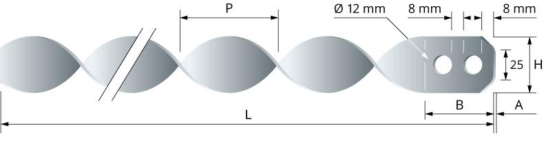 Turbulateur hélicoïdal - Intérieur