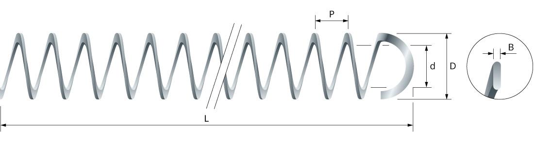 Turbolatori a molla con gancio per scambiatori di calore verticali_03 - Eurospiral