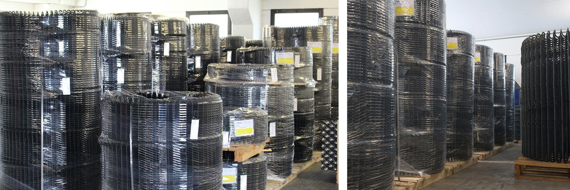Spirali flessibili in acciaio per trasporto cippato, biomasse per caldaie e mangimi per impianti zootecnici di alimentazione automatica_gallery01