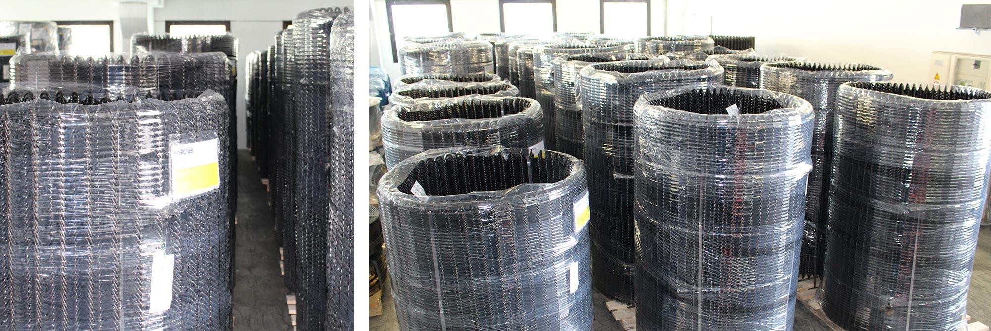 Spirali flessibili in acciaio per trasporto cippato, biomasse per caldaie e mangimi per impianti zootecnici di alimentazione automatica_gallery02